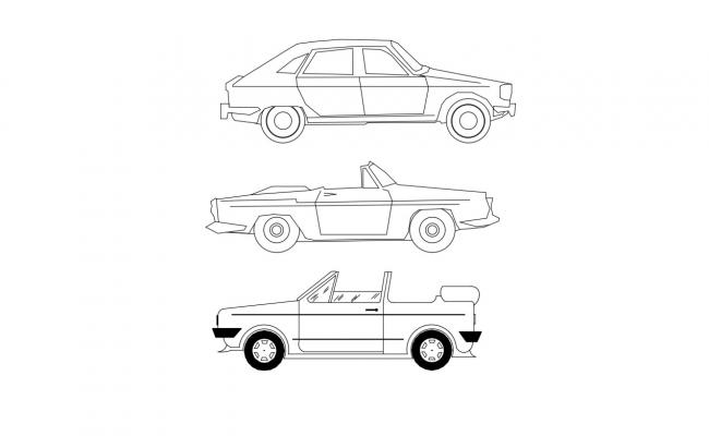 Different Types Of Car Elevation Cad Block Free Download
