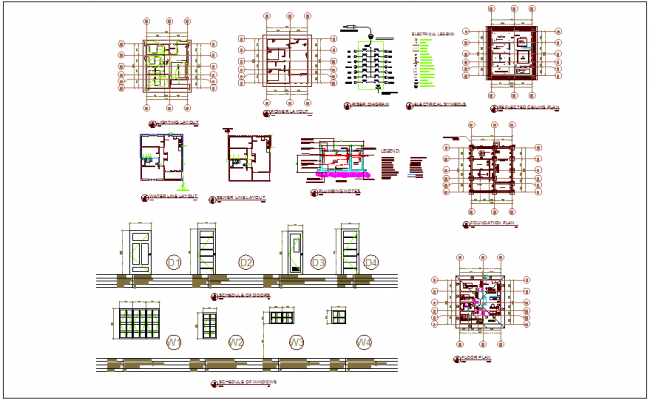 Different reference plan with architectural plan of house dwg file