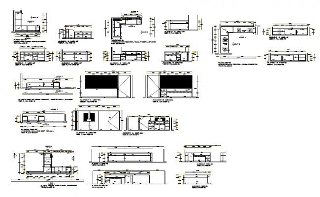 Different structural module design 2d view CAD block layout file in autocad format