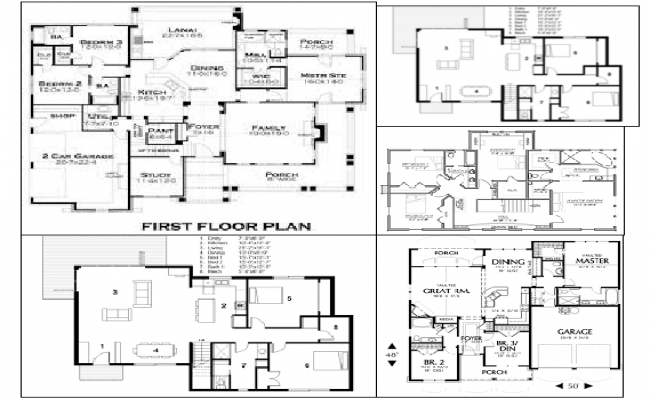Different type of House Plan Lay-out Architecture design