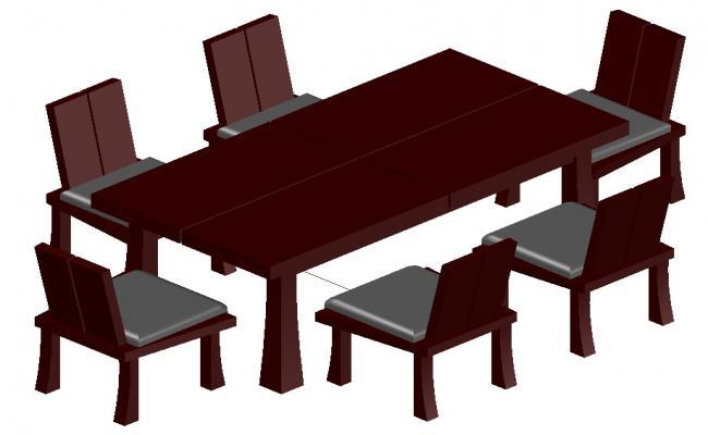Dining Table Set Designs CAD File Download