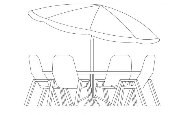 Dining Table With Umbrella