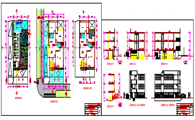 Dining and offices project design drawing