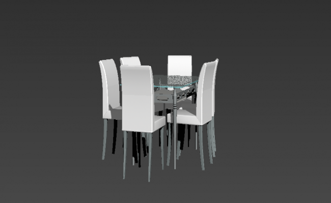 Dining table and chair 3d model 3d max file