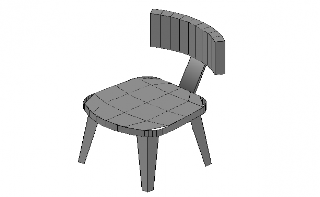 Modern Dining Chair 3d Model In AutoCAD Drawings