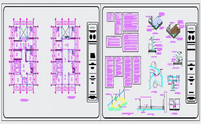Display design of walls detail drawing