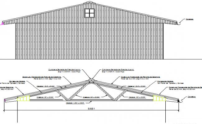 Distribution & details of module, camp wood elevation, section dwg file