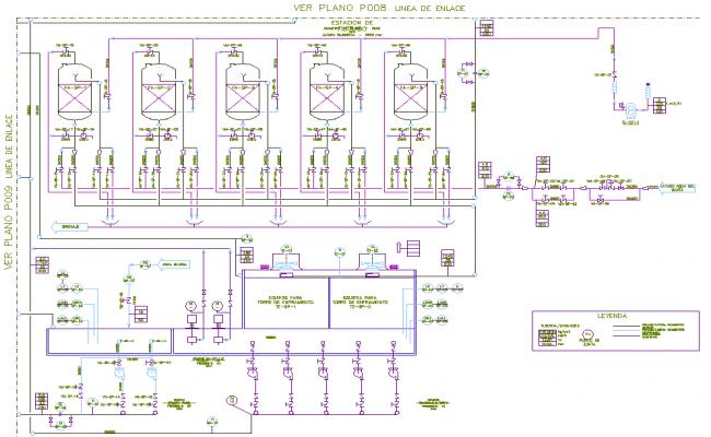 Distribution water tank detail dwg file