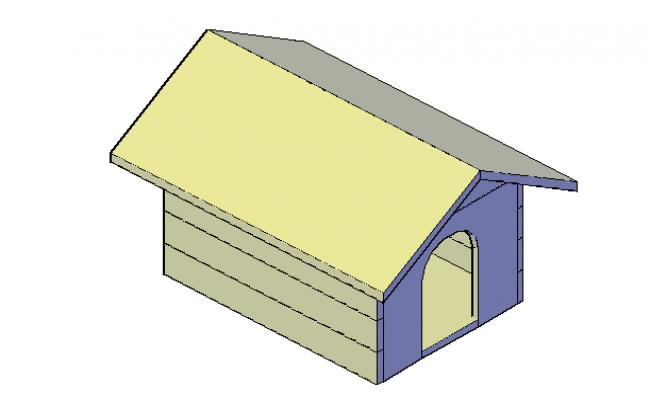 Dog kennel 3d elevation