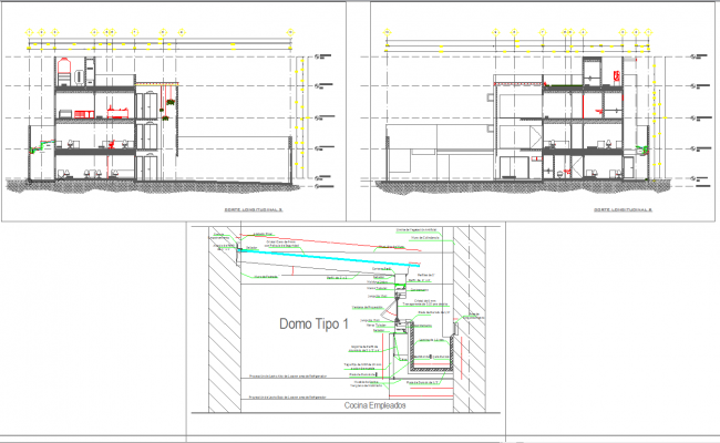 Dome Architecture Detail In Autocad Dwg Files