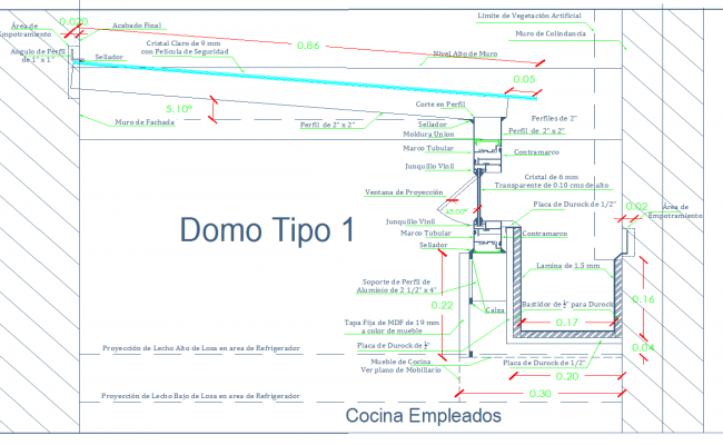 Dome corridor detail autocad dwg files