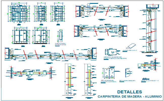 Door  design view for law collage dwg file