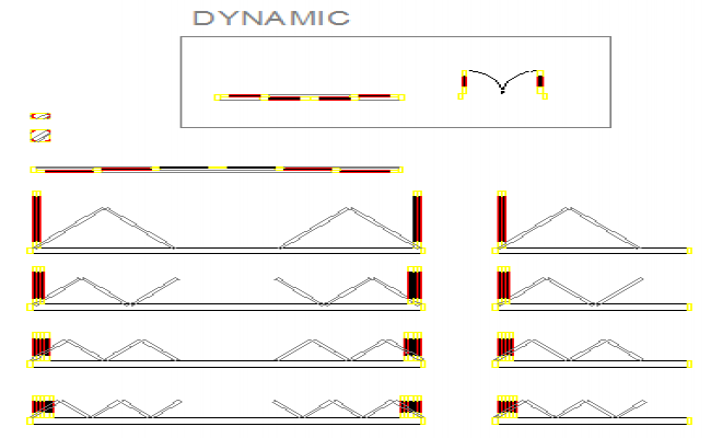 Door And Window dynamic Block plan design drawing
