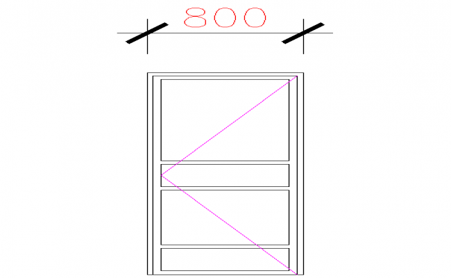 Door Block Elevation Design