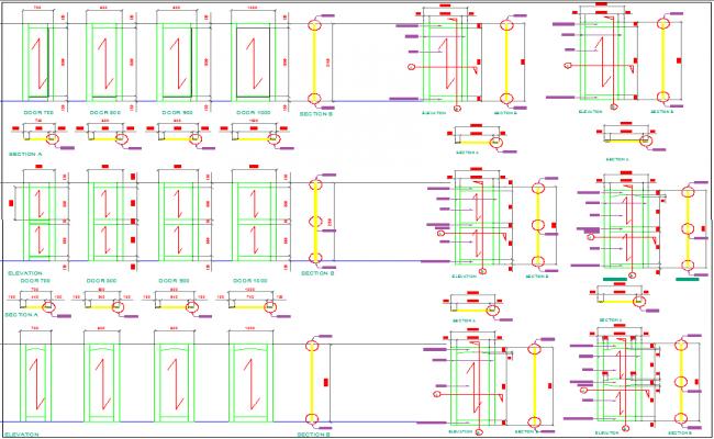 Door Design with Installation plan