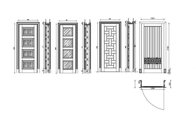 Door Detail Auto CAD Detail File Free Download