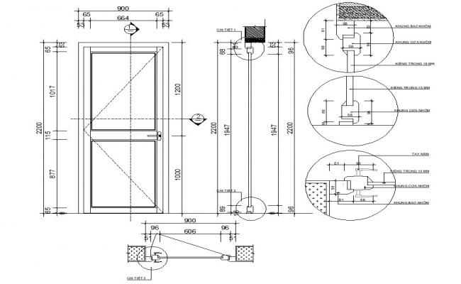 Door Drawing With Dimensions