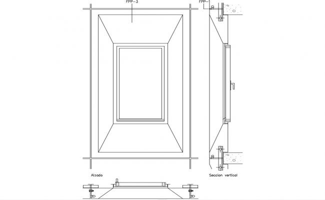 Door Drawing With Section,Plan,Elevation Auto CAD File Free Download
