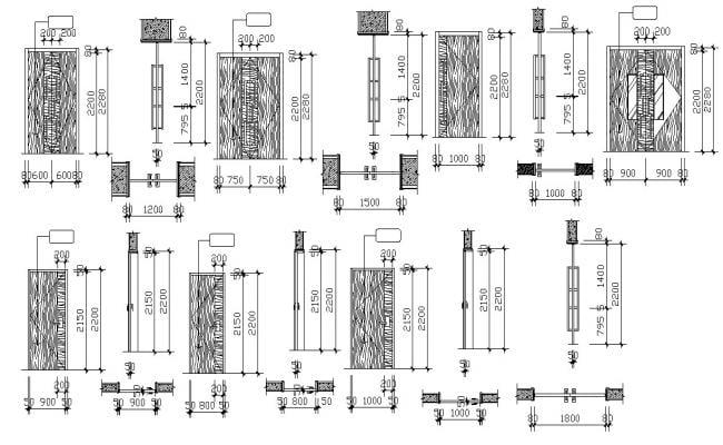 Door Elevation Design CAD File Download