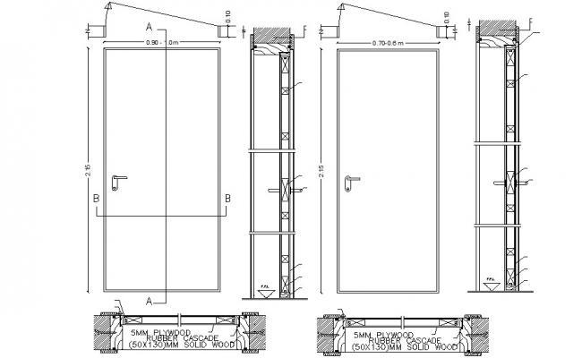 Door Elevation Design DWG File