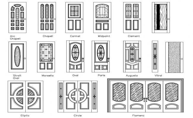 Door Elevation Drawing