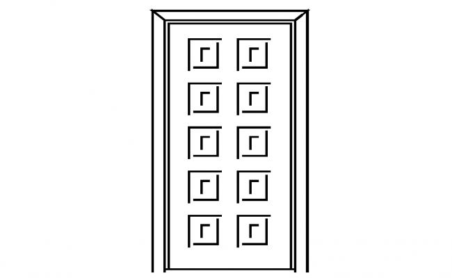 Door Elevation design Block