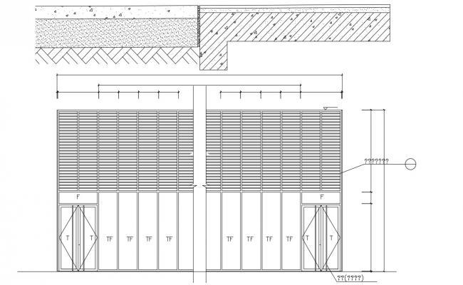 Door Facade Design AutoCAD drawing