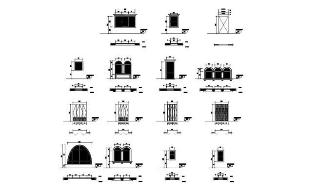 Door Frame Design CAD Block