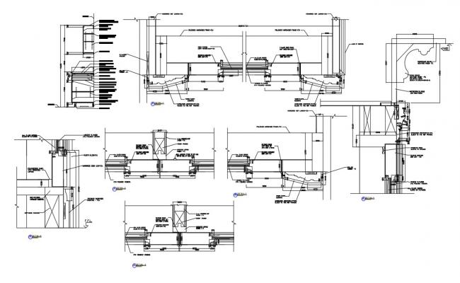 Door Lintel Section Plan CAD File