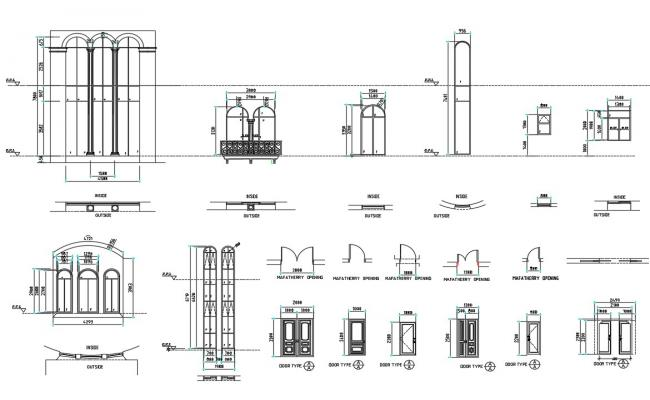 Door Plan CAD Drawing Free Download