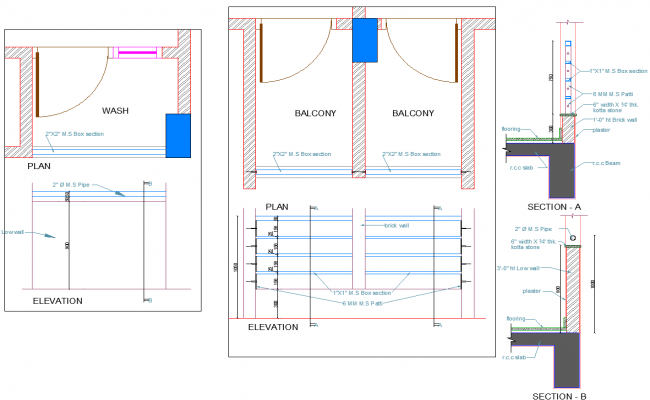 Door Slab detail autocad file