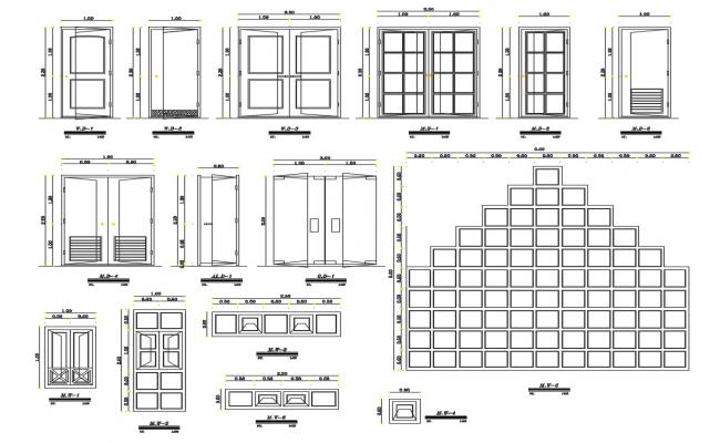 Door and Window CAD Blocks