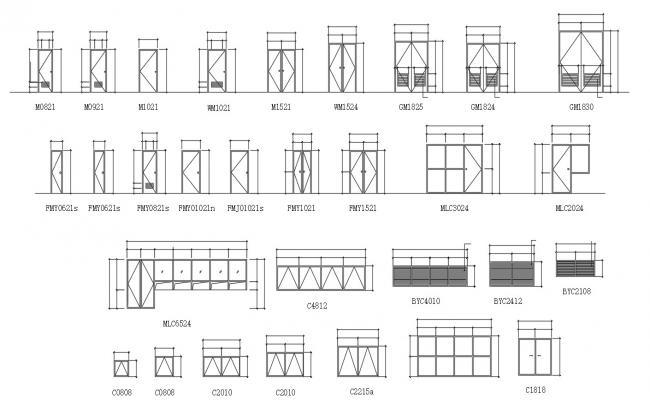 Door and Window Free AutoCAD Blocks Download
