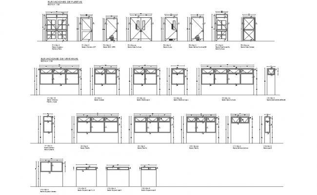 Door and window framing detail dwg file