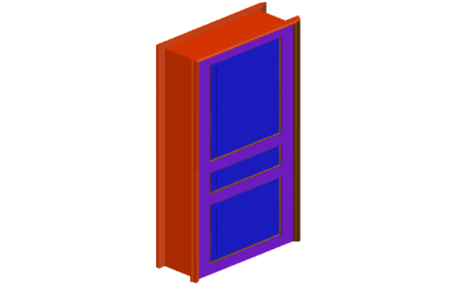 Door design in 3D view