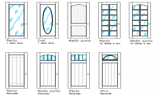 Door design of multi-family house dwg file