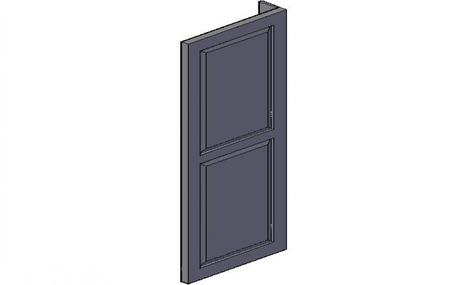 Door design view in 3d