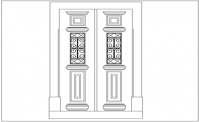 Door design with historical view