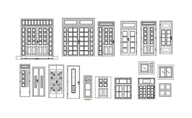Door detail in AutoCAD