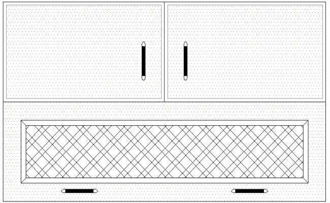 Door details of house cup board design dwg file