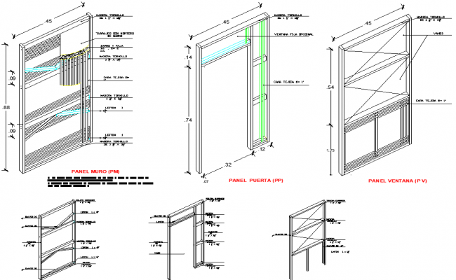 Door elevation detail dwg file