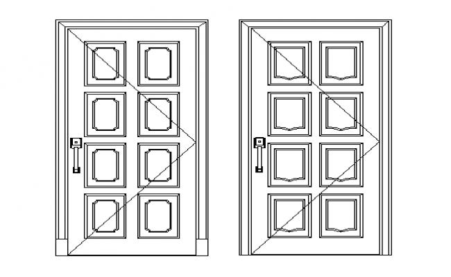 Door elevation details