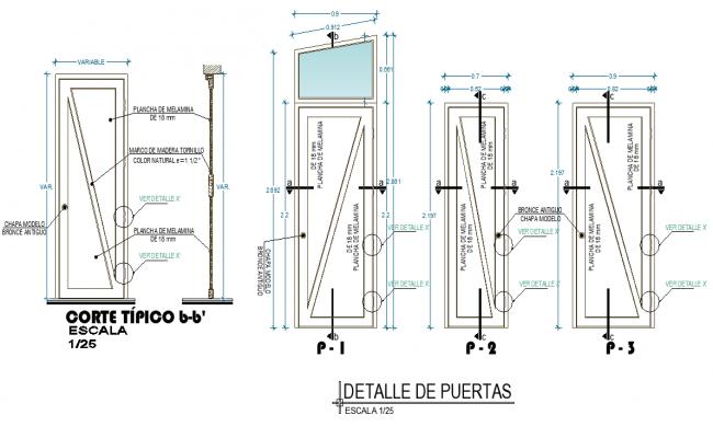 Door elevation plan layout file