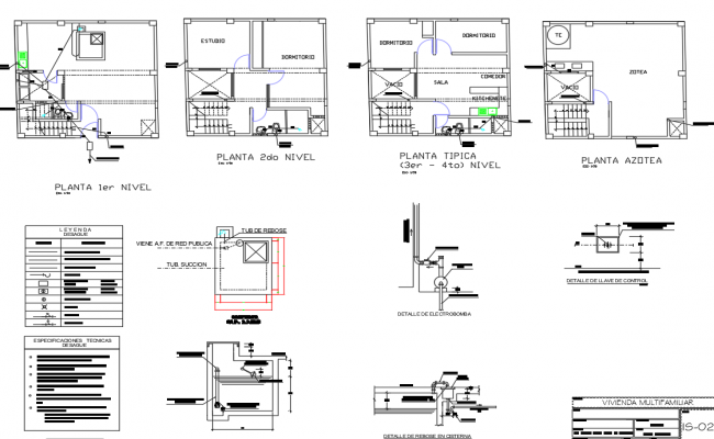 Door frame sectional details