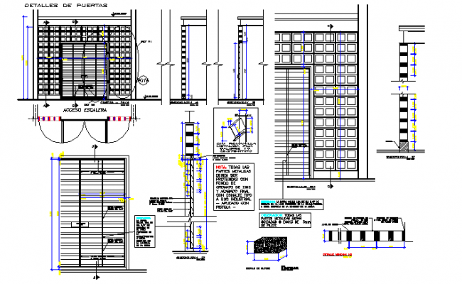 Door framing detail dwg file