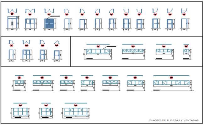 Door framing plan and elevation detail dwg file