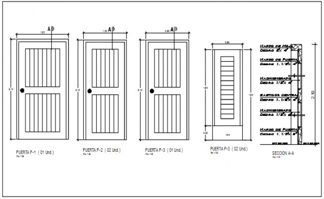 Door framing plan and window framing plan elevation detail dwg file