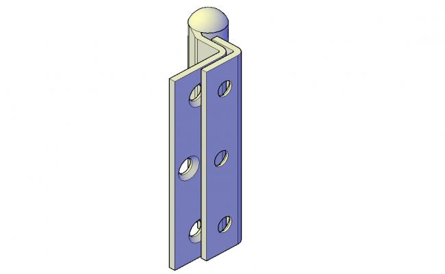 Door hinge plan detail dwg file.