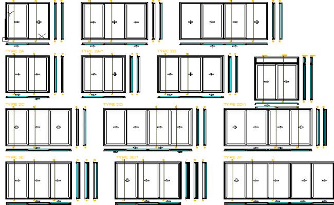 Door installation details of building dwg file