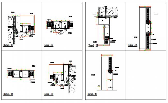 Door installation details of housing dwg file